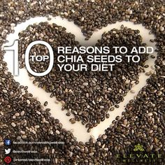 10 Reasons to Add Chia Seeds to your Diet. This Aztec Superfood Packs An Unmatched Nutritional Punch. Number 10 Surprised Even Us! Healthy Habits, Get Healthy, Healthy Tips, Healthy Food, Healthy Recipes, Wellness, Healthy Options, Health And Nutrition, Number 10