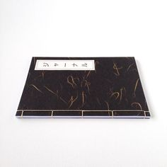 A5 Notebook Japanese Stab Binding Black & Gold by KimonoPaper