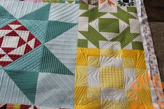 Piece N Quilt: Moda Modern Building Blocks Quilt - Custom Machine Quilting by Natalia Bonner