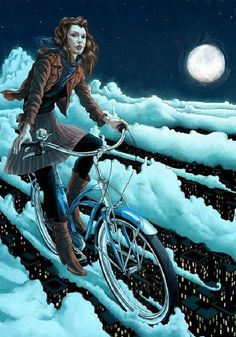 mujeres en #bici luna llena