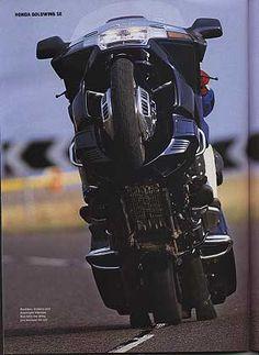 Hond GoldWing wheelie - any bike reallys