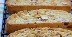 Almond Biscotti Cookies, do we have a cookie for you. Ok wait, no, let's not call them cookies. If we call them cookies then technically we could feel gu. Cookie Desserts, Just Desserts, Dessert Recipes, Gourmet Desserts, Plated Desserts, Italian Pastries, Italian Desserts, French Pastries, Italian Foods