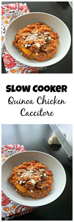 An easier, healthier and gluten-free version of classic Chicken Caccitore, this slow-cooker meal is literally a set it and forget it meal.