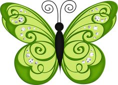 Green Butterfly PNG Transparent