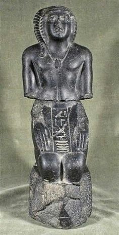Statue of Bakenranef, known by the ancient Greeks as Bocchoris, was briefly a king of the Twenty-fourth dynasty of Egypt. Based at Sais in the western Delta, he ruled Lower Egypt from c. 725 to 720 BC.  Shabaka deposed and executed Bakenranef by burning him alive at the stake which effectively ended the short-lived 24th Dynasty of Egypt as a potential rival to the Napatan 25th Dynasty.