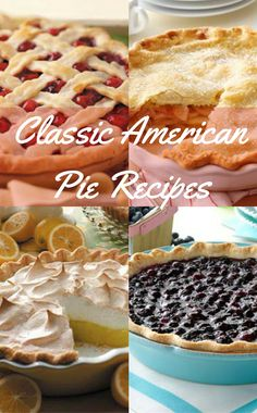 Classic American Pie Recipes from Taste of Home including: Apple Pie, Banana Cream Pie, Fresh Cherry Pie, Classic Lemon Meringue Pie, Contest-Winning Fresh Blueberry Pie and more!