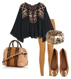 """""""Native"""" by louise-224 on Polyvore featuring Parisian, MANGO, Tory Burch and Hipchik"""