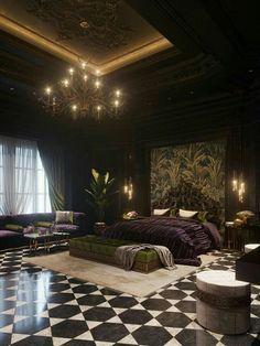 Luxury Bedroom Design, Home Room Design, Master Bedroom Design, Dream Home Design, Home Decor Bedroom, Luxury Master Bedroom, Black Bedroom Design, Master Suite, Mansion Interior