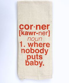 Look at this Orange 'Corner' Tea Towel on #zulily today!