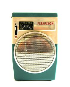 The Ferguson 3108 was manufactured in Great Britain in 1962. It was made by the Ferguson Radio Corporation Ltd, a company owned by Thorn Electrical Industries.