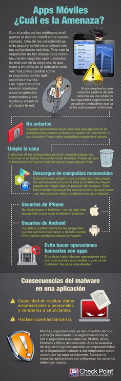 APPs móviles ¿cual es la amenaza? #infografia #infographic #software
