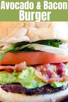 Make a crunchy burger with bacon and avocado
