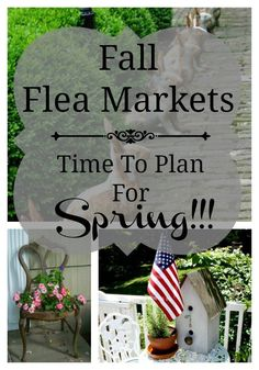 Fall means the flea market is ripe for the picking and vintage sales are abundant making it the best time to score containers & garden art for next year! Flea Market Style, Flea Market Finds, Flea Markets, Thrift Store Crafts, Thrift Stores, Old Dressers, Plantar, Outdoor Living, Outdoor Decor