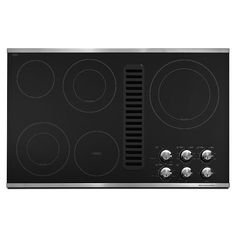 KitchenAid 36in Smooth Surface Downdraft Electric Cooktop