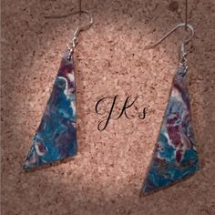 Handmade earrings with cold porcelain