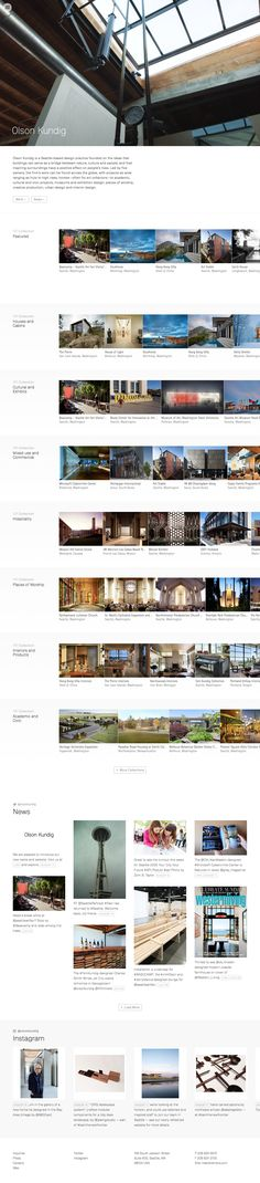 Clean Web Design Layout // http://www.olsonkundig.com/ // #Minimal #WebDesign #Clean