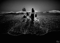 """""""El adios"""" - (938 x 682 px) - Luis Pulo - Junio 25, 2012 - Fotomontaje - Licencia Creative Commons"""