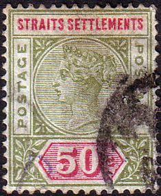 Straits Settlements 1892 Queen Victoria SG 98 Fine Fine Used Scott 82 Other Malay Straits Stamps HERE