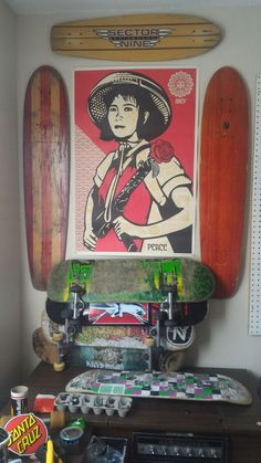 The Workplace Skateboard Furniture, Workplace, Bedroom Decor, Dorms Decor, Decorating Bedrooms, Bathrooms Decor
