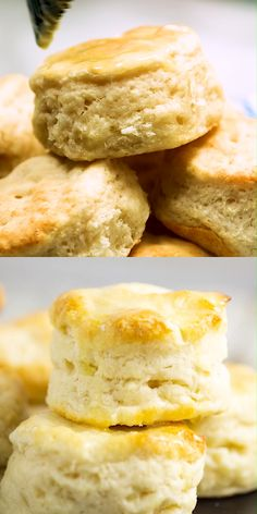 These simple homemade Southern Buttermilk Biscuits are flaky and tender. Slather them in butter and see just how deliciously light and tender these biscuits are. Southern Buttermilk Biscuits, Buttermilk Recipes, Southern Homemade Biscuits, Buttermilk Bisquits, Country Biscuits, English Biscuits, Homemade Biscuits Recipe, Homestyle Biscuits Recipe, Cornmeal Biscuits Recipe