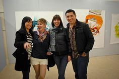 Artist Angela Willetts and friends at Proof of Some Existence opening  http://awilletts.com/home.html