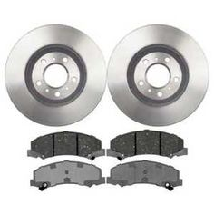 a premium front ceramic brake pads and disc rotors complete kit left right pair