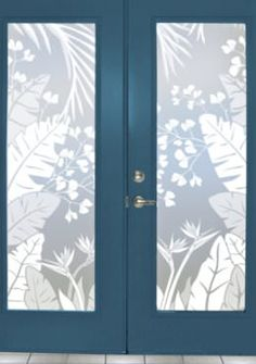 tropical oasis frosted privacy window film