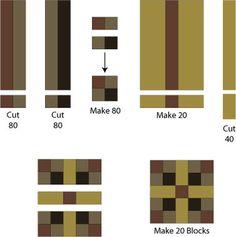 five patch chain quilt block
