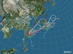 台風情報・日本広域(2012年9月28日 9時現在)