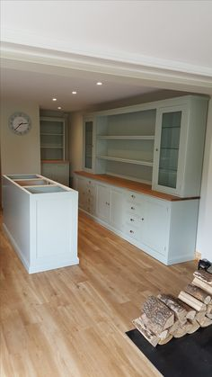 3 3m Large Painted Kitchen Dresser Bespoke Made With Oak Top Many Colours Available