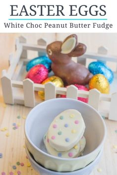 Easter Egg Fudge: White chocolate, peanut butter fudge for Easter... HAPPY EASTER!
