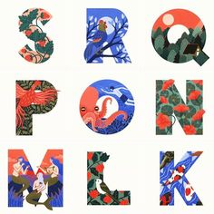 Today we bring back the work by for a beautifully illustrated series full of detail made entirely with… Cool Typography, Creative Lettering, Lettering Design, Letter Art, Letters, Font Art, Alphabet Design, Book Design Layout, Types Of Lettering