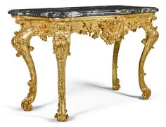 date unspecifed A German rococo carved giltwood console table, mid-18th century  Estimate   8,000 — 12,000  GBP  10,306 - 15,460USD. unsold