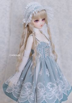 Such A Sweet BJD, Beautiful Sewing On THe Outfit, And Wow, She Just Looks Sweet.