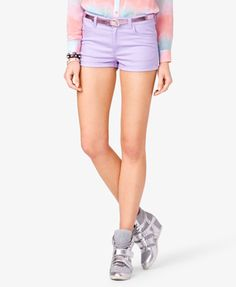 Colored Denim Shorts #Forever21  #Shorts