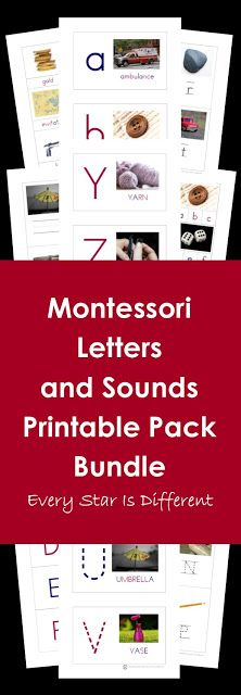 Montessori Letters and Sounds Printable Pack Bundle