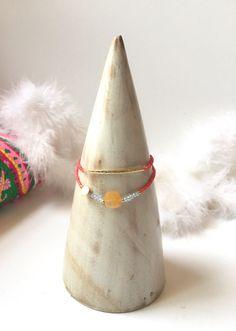 2 bracelets rose pour l'été petites perles minérales par Ocelyane