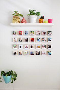 DIY Instagram Polaroid Block Gallery Wall|| 17 Budget-Friendly Ways to Display Your Art via Brit + Co