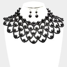 Gothic Choker Made From Black Beads By Restyle Jewelry