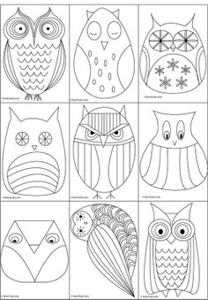 owl templates @ DIY Home Ideas
