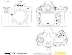 20 best blueprints images on pinterest technical drawings posters camera blueprints the blueprints vector drawing nikon d700 malvernweather Choice Image