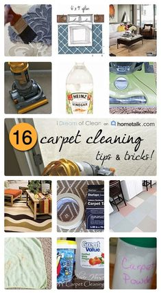 16 Carpet Cleaning Tips and Tricks | curated by 'i Dream of Clean' blog!