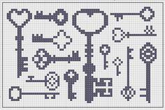 Star-Shaped and Shiny: Antique Keys - Free Cross-Stitch Chart