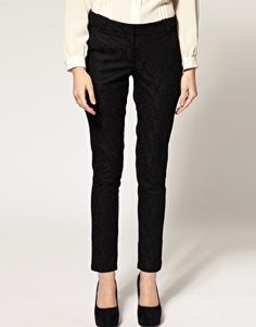 lace skinny trousers