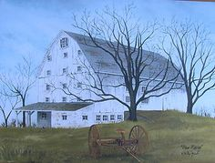 Image detail for -Billy Jacobs done Raking Barn Primitive Print Art Unframed Country ...