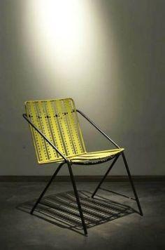 Mathieu Matégot; Painted and Perforated 'Santiago' Chair, 1954.