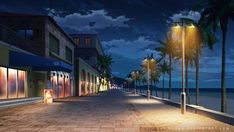Shopping street - Night by Vui-Huynh on DeviantArt Episode Interactive Backgrounds, Episode Backgrounds, Anime Backgrounds Wallpapers, Anime Scenery Wallpaper, Scenery Background, Street Background, Night Background, Animation Background, Casa Anime