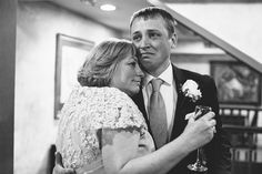 The Pure Emotion. The #groom hugs his mom for the first time as a married man. Photo by: Henry+Mac, #wedding photographers in Boston.