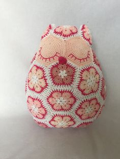 Made to order: Crochet owl African flower pillow by Alinies