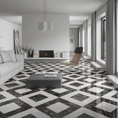 Append your kitchen, dining or living room colorful and attractive by choosing this Merola Tile Elegance Luxe Porcelain Floor and Wall Tile. Bathroom Floor Tiles, Wall Tiles, Tile Floor, Foyer Flooring, Stone Flooring, Vct Flooring, Floor Design, Tile Design, Black And White Tiles